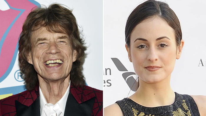 Mick Jagger and Melanie Hamrick. (Evan Agostini / Associated Press, left; Rabbani and Solimene Photography/Getty Images, right)