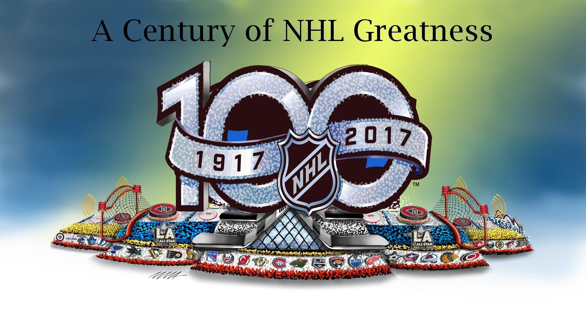 here s what the nhl s rose parade float will look like 100th Anniversary Ideas 100th anniversary logo clip art