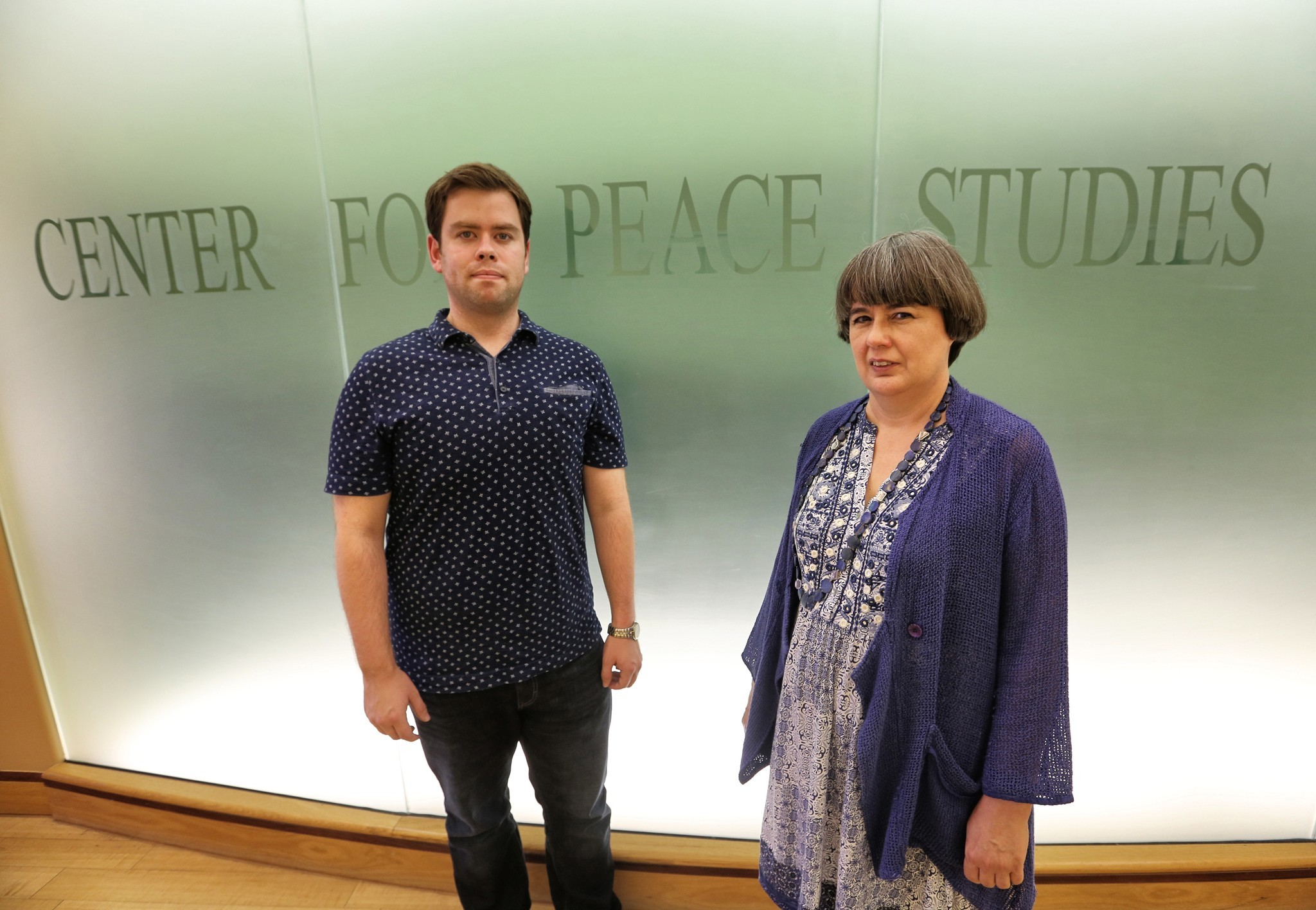 Former Virginia Tech student John Welch, left, and professor Jannell Watson channeled their grief over the death of a French professor by creating and running Teach for Madame, a program that sends Tech students to grade schools to teach French.