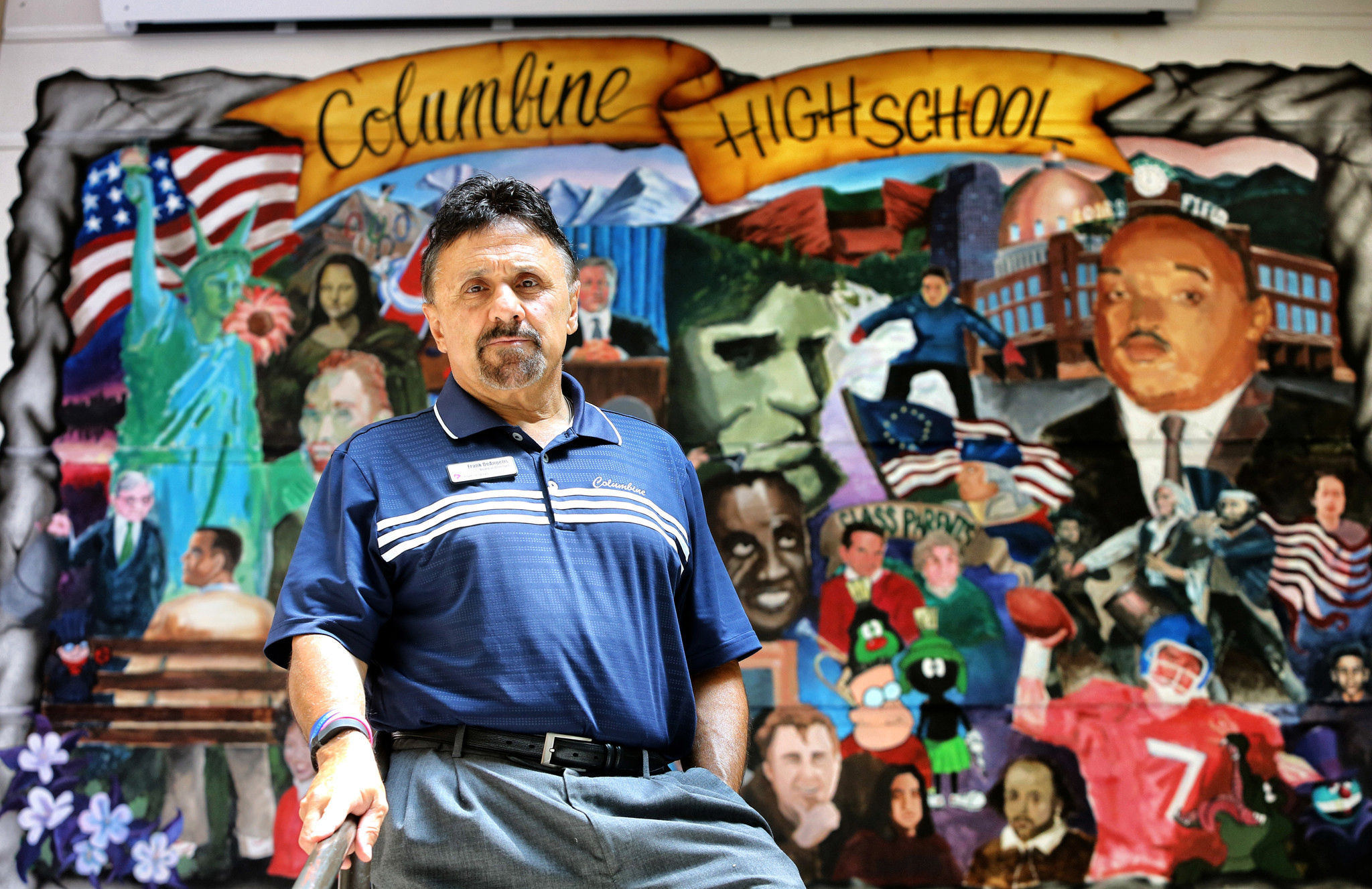 Frank DeAngelis, who was the principal at the time of the mass shooting at Columbine High School in 1999, recently visits the school where 12 students and one teacher were killed.