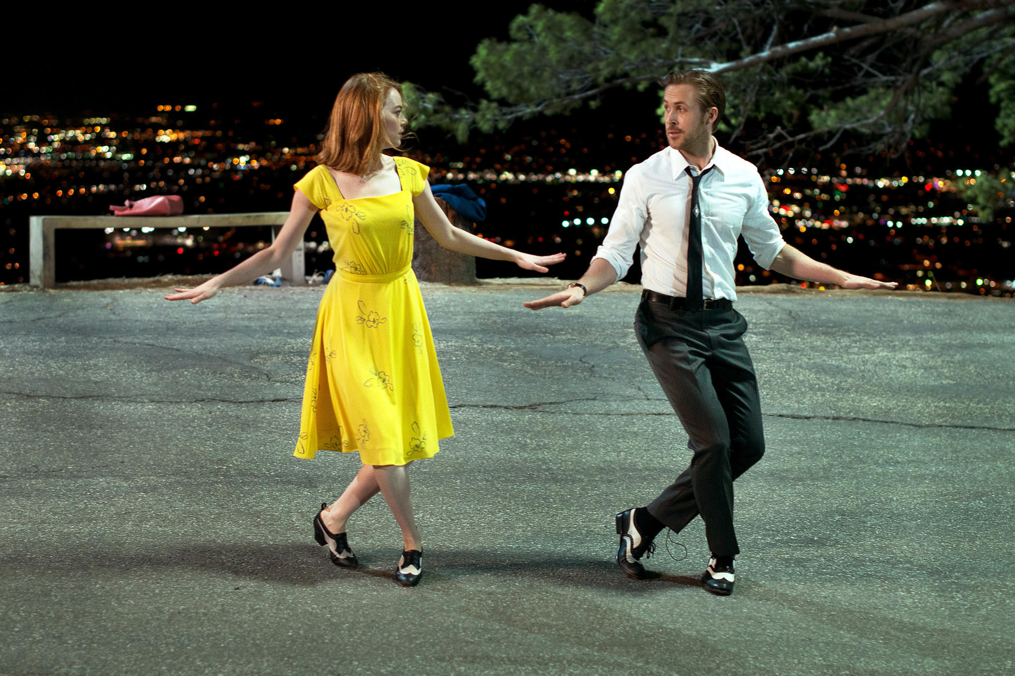 Emma Stone and Ryan Gosling (Dale Robinette / Lionsgate)