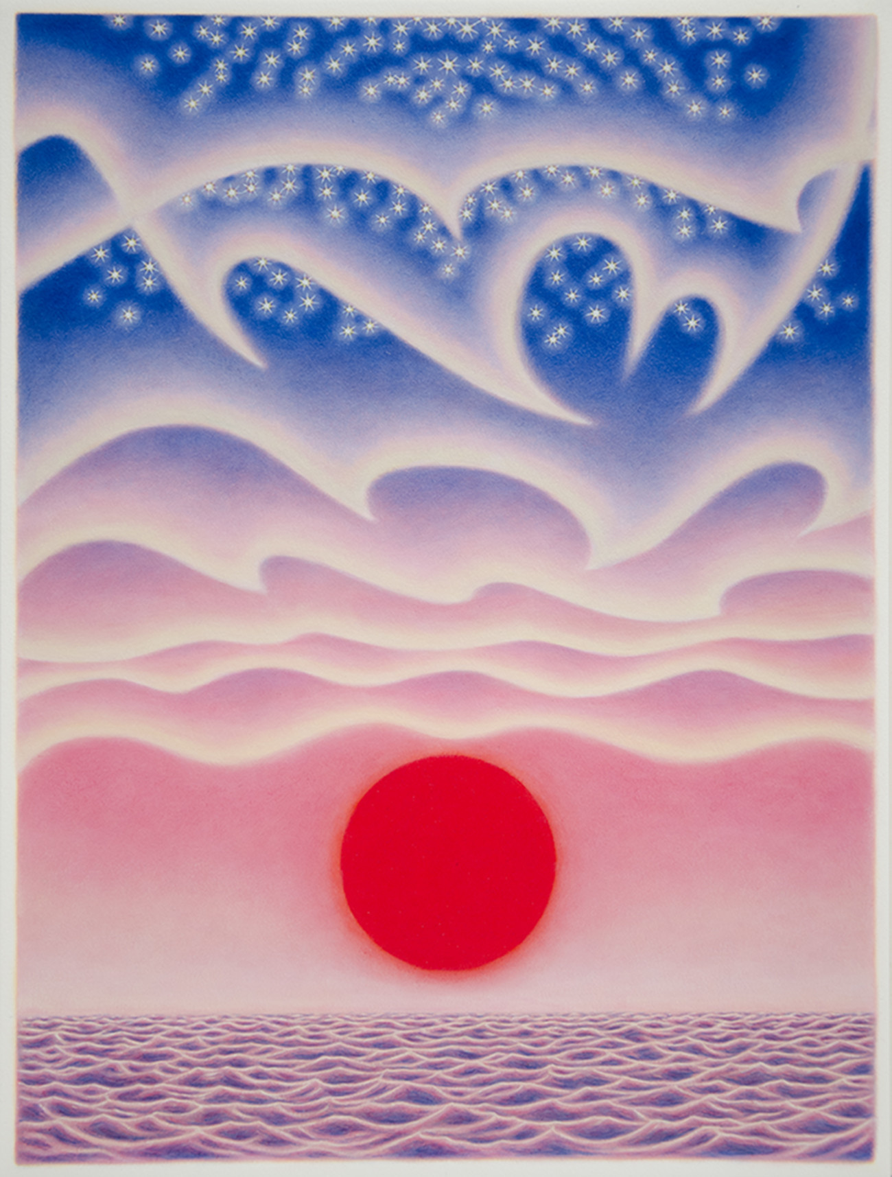 "Sharon Ellis's ""Endless Summer,"" 2015, alkyd on paper."