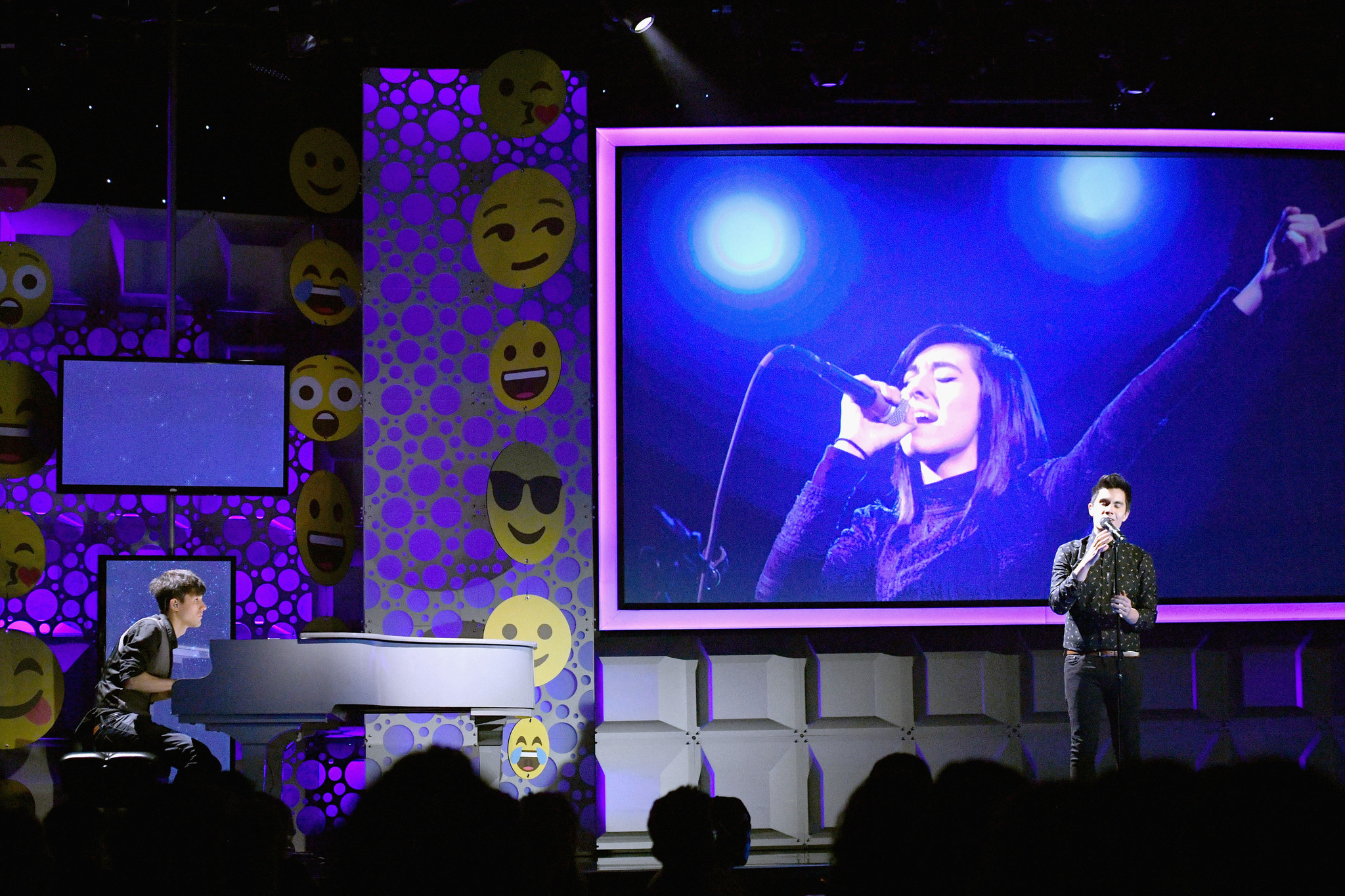 A view onstage during the Christina Grimmie Tribute at the 6th annual Streamy Awards hosted by King Bach and live streamed on YouTube at The Beverly Hilton Hotel on Oct. 4, 2016 in Beverly Hills, Calif.