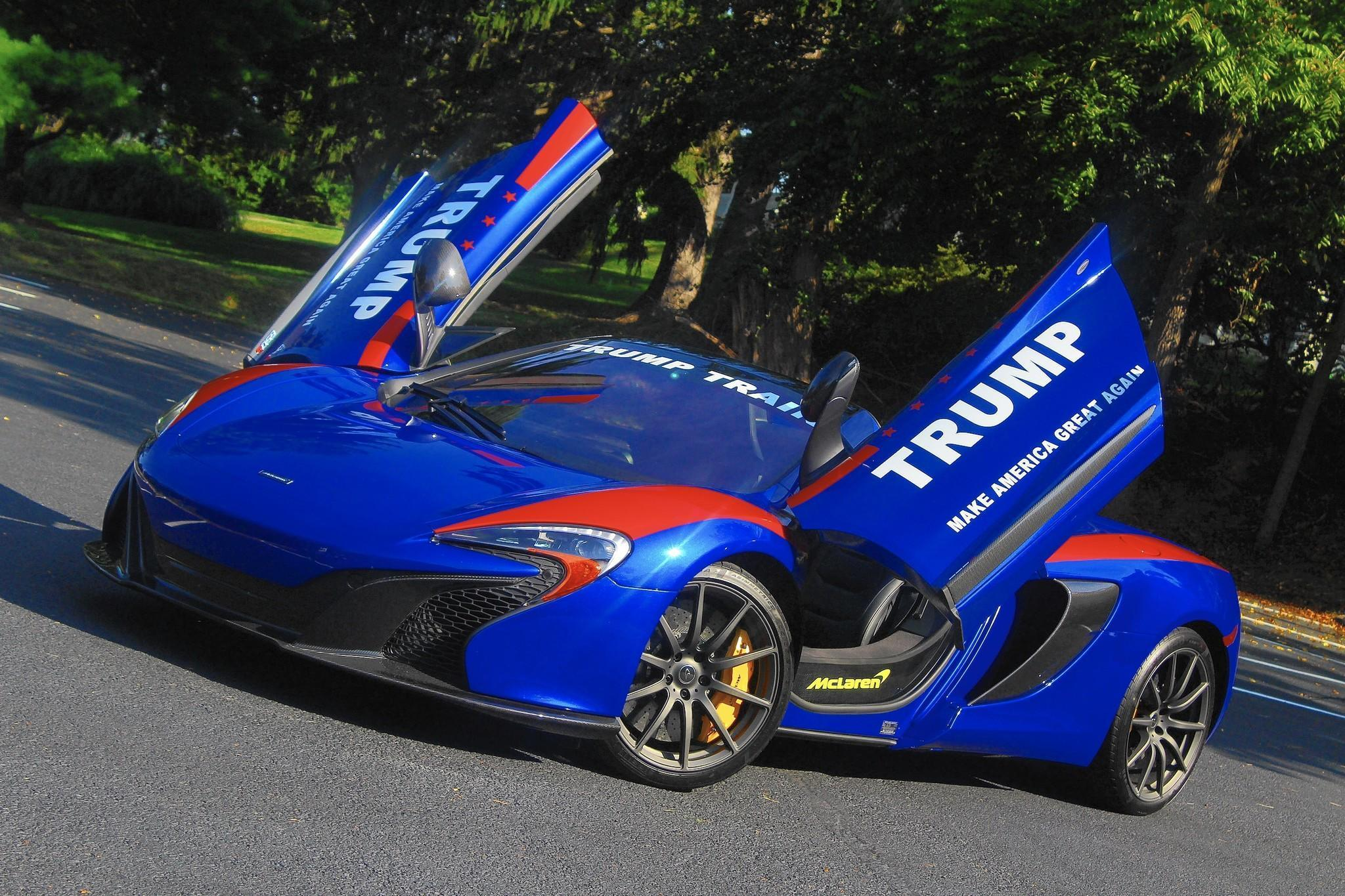 Update: Owner Says Pro Trump Signs On Sides Of McLaren 650S May Have Been  Behind Arson   The Aegis