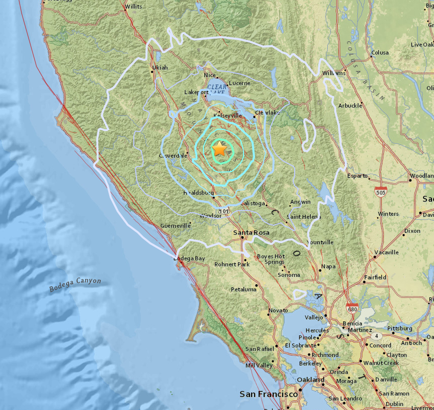earthquakes shake mammoth lakes sonoma county