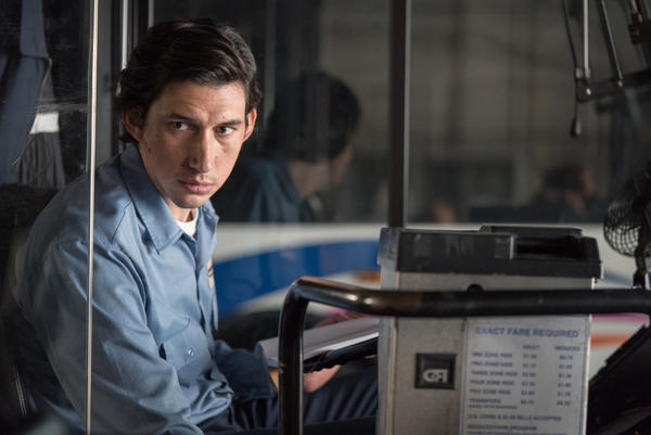 "Working class hero: Adam Driver plays a poet bus driver in ""Paterson."" (Mary Cybulsky / Window Frame Films)"