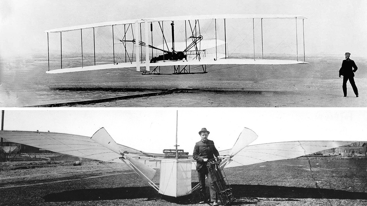 First Wright Brothers Flight throughout a salute to the wright brothers, a nod to gustave whitehead