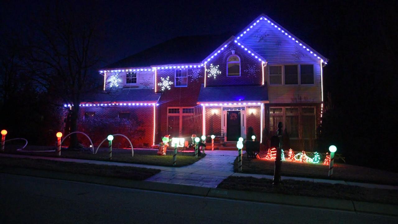 hagan familys lights on ice crystal christmas display capital gazette
