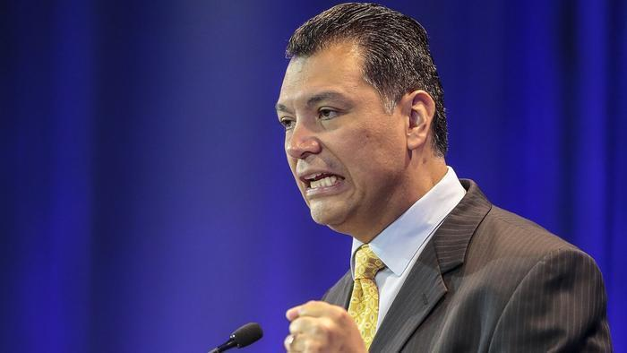 Secretary of State Alex Padilla. (Damian Dovarganes/Associated Press)