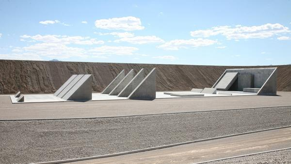 "Part of Michael Heizer's ""City"" in Nevada. (Triple Aught Foundation)"