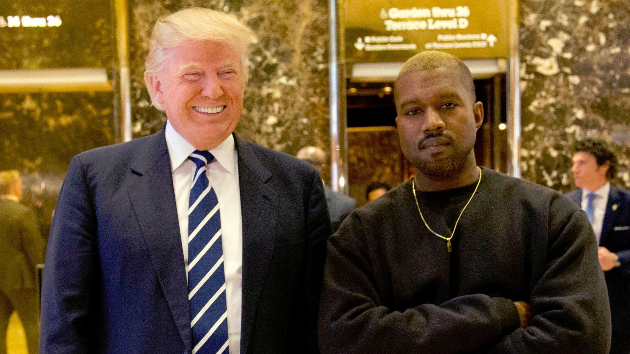 President-elect Donald Trump and Kanye West (Seth Wenig / Associated Press)