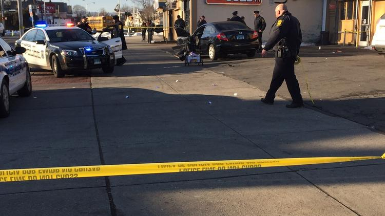 Police are investigating after a half-dozen shots were fired at the corner of Magnolia Street and Albany Avenue.