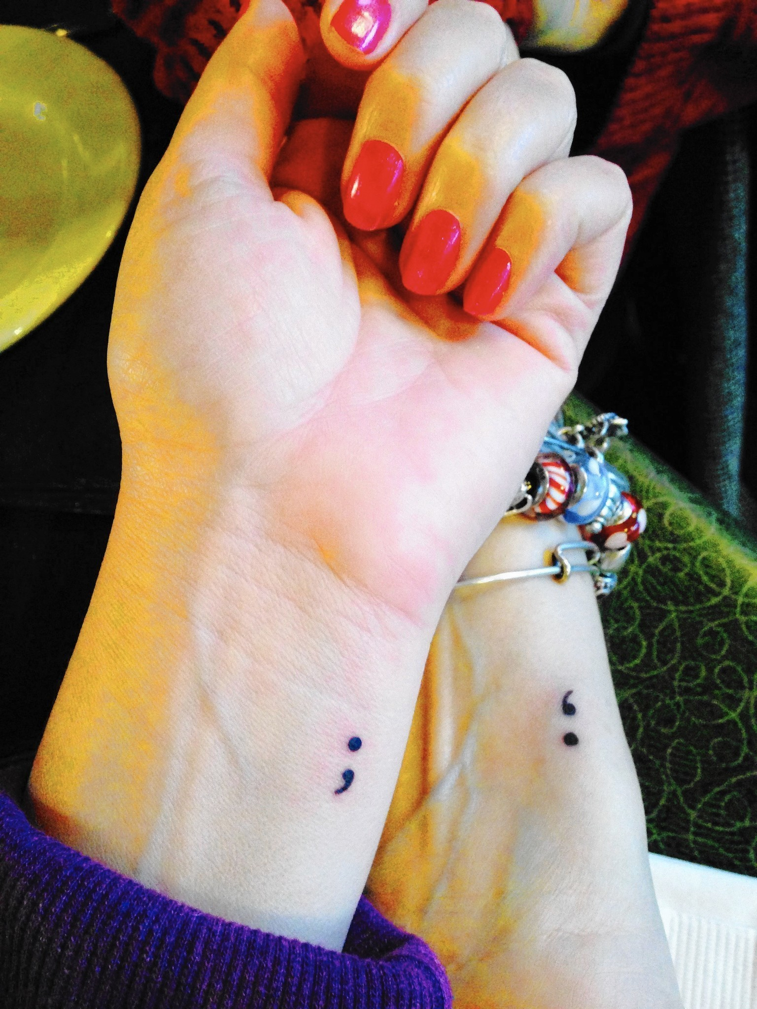 Semicolon tattoos offer a way to raise awareness of for Tattoo shops in aurora