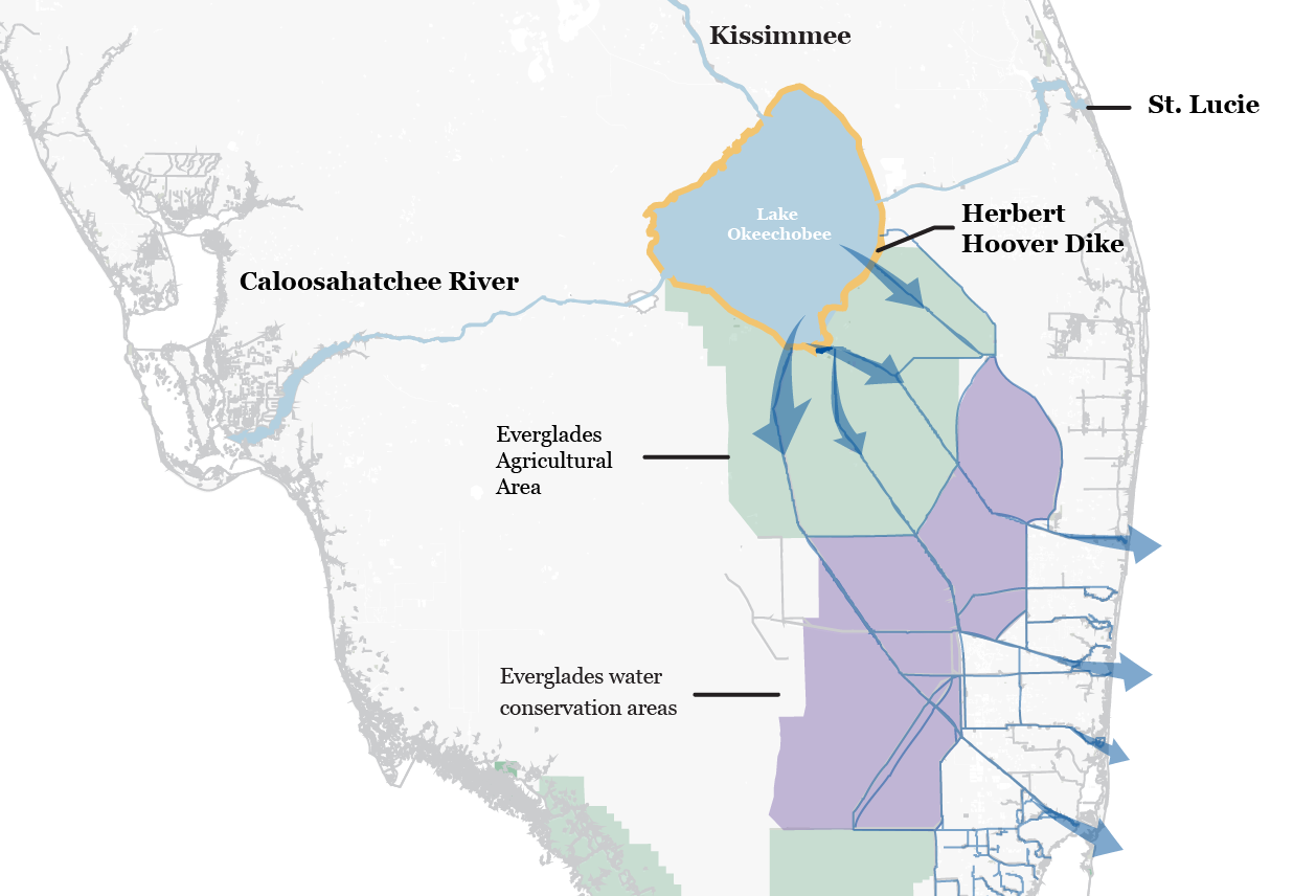 How Lake Okeechobee Flooding Is Adversely Affecting Floridas - Map of florida lakes