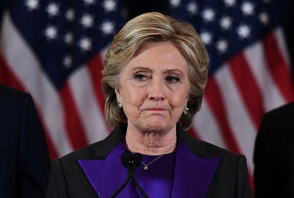 Hillary Clinton conceded to Donald Trump on Nov. 9 in New York City. (Jewel Samad / AFP/Getty Images)