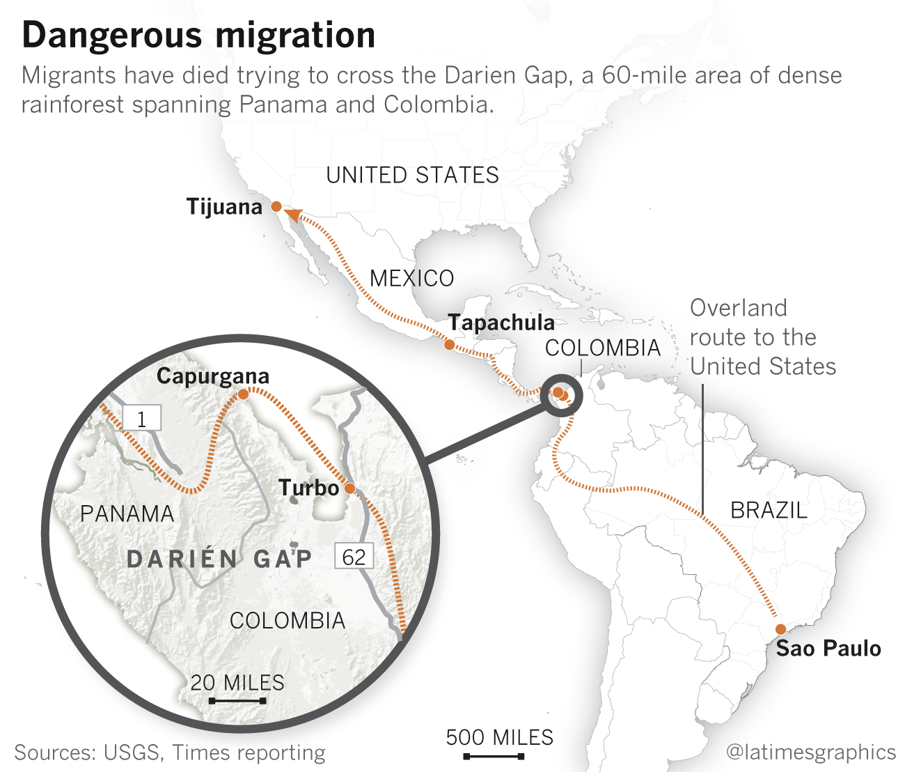 Crossing The Darién Gap Migrants From Around The Globe Are - Us to brazil by boat map