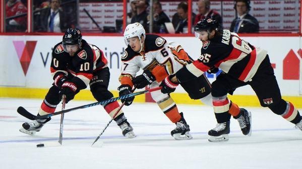 Ducks Fall To Ottawa Senators In Overtime, 2-1