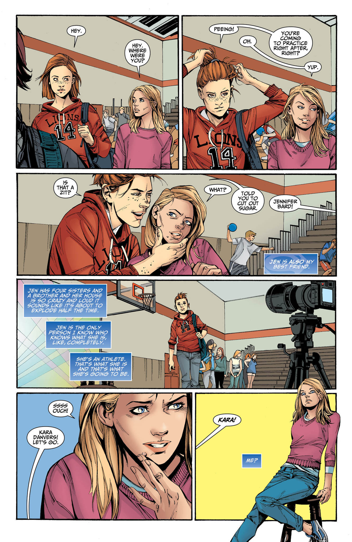 "An image from ""Supergirl: Being Super"" by writer Mariko Tamaki and artist Jolle Jones."