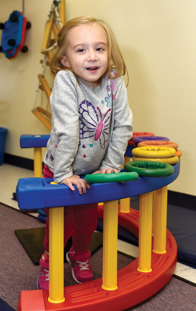 Emma Larson, 3 1/2 years old, is now able to walk on crutches thanks to the drug Spinraza.