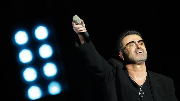 George Michael performs in Abu Dhabi in 2008. (Karim Sahib / AFP-Getty Images)