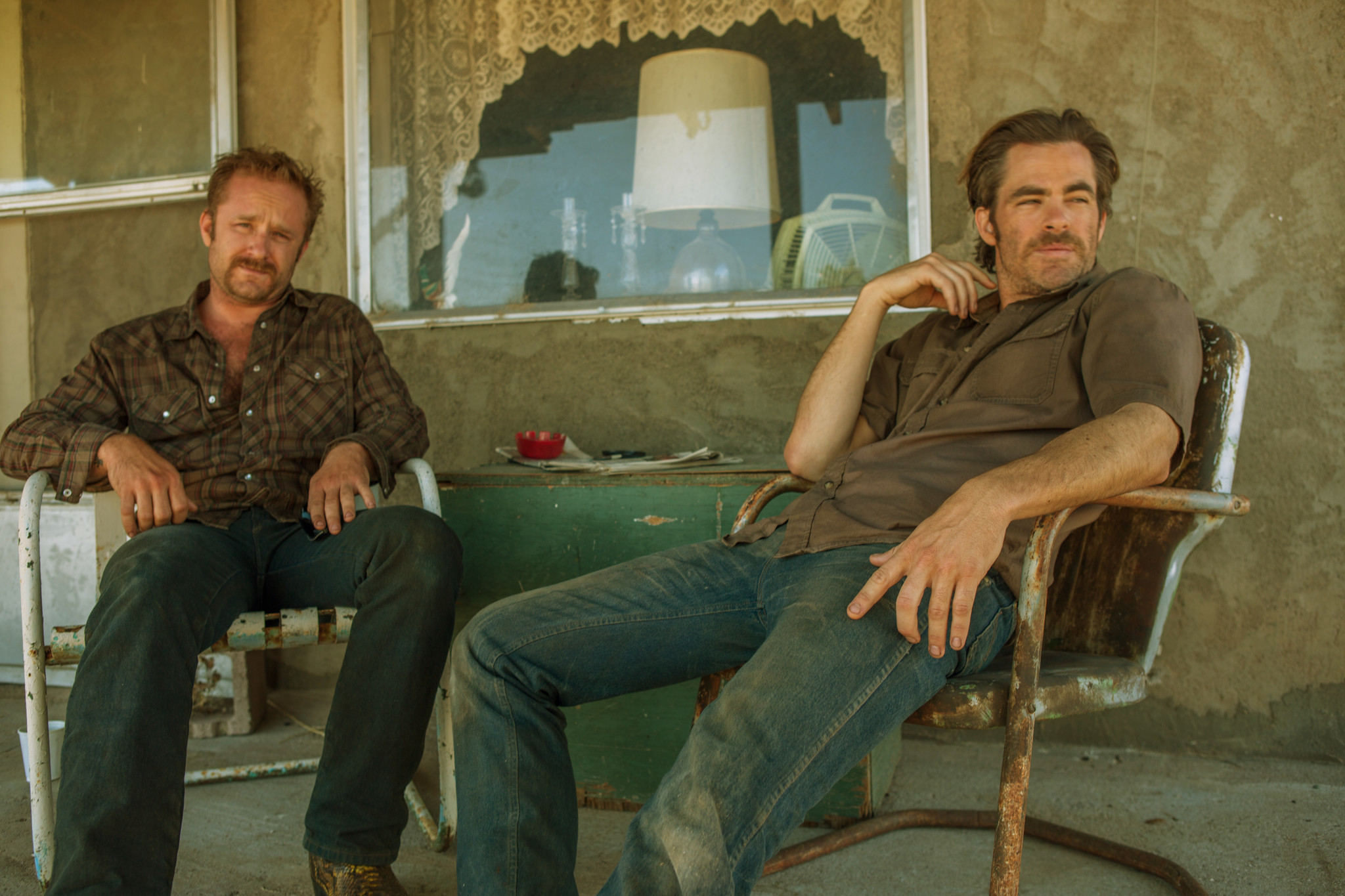 "Ben Foster, left, and Chris Pine as brothers in ""Hell or High Water."" (Lorey Sebastian / CBS Films/Lionsgate)"