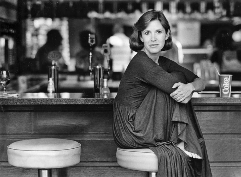 Carrie Fisher, Farmers Market, 1987. (Los Angeles Times)