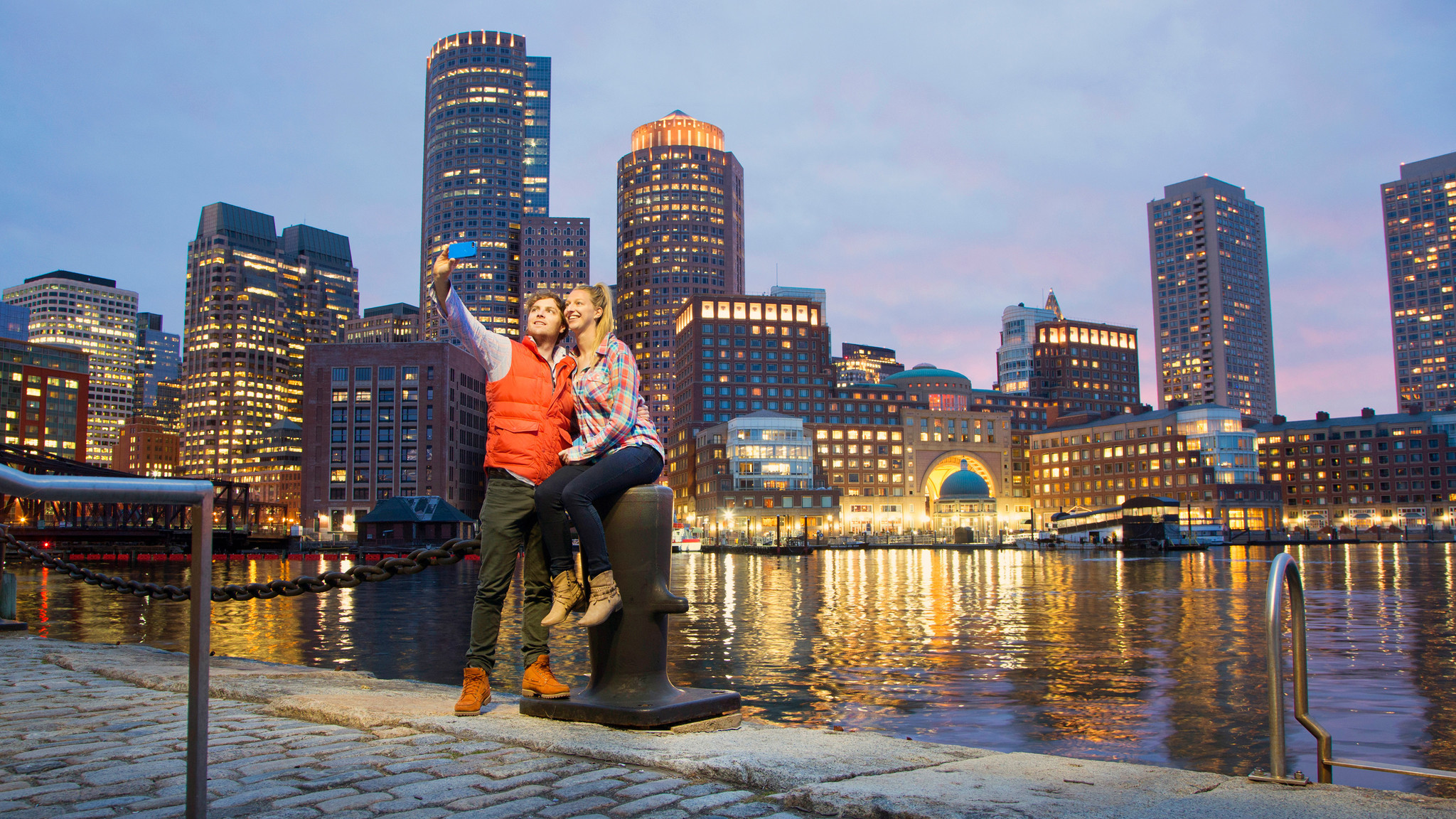 Snap a selfie with the Boston skyline.