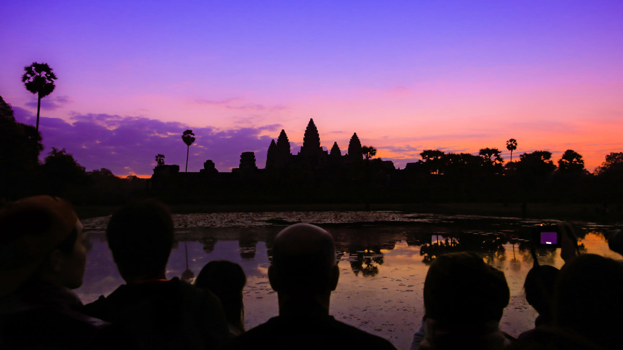 The temples of Angkor Wat in Siem Reap, Cambodia.
