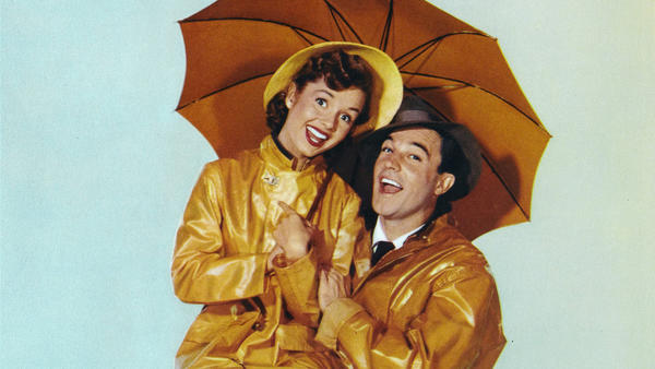 "Debbie Reynolds and Gene Kelly in ""Singin' in the Rain"" will be part of a 24-hour film tribute to Reynolds on TCM on Jan. 27. (Movie Poster Image Art / Getty Images)"
