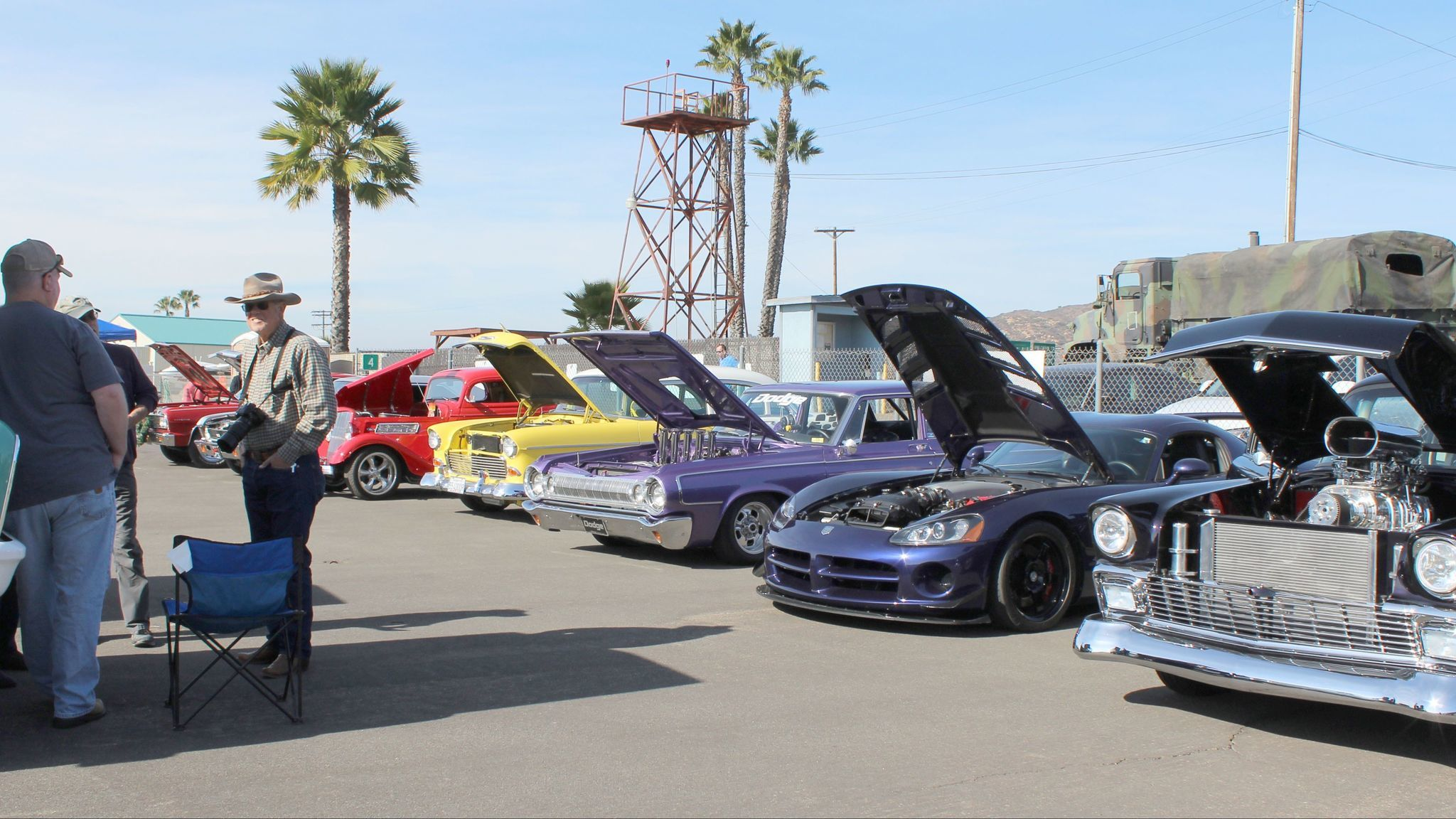 Ramona American Graffiti Cruise stages a car show.