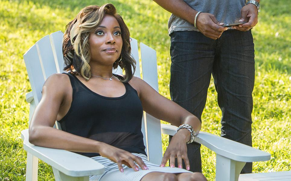 "Erica Ash as M-Chuck in the Starz series ""Survivor's Remorse."" (Quantrell D. Colbert / Starz Entertainment)"