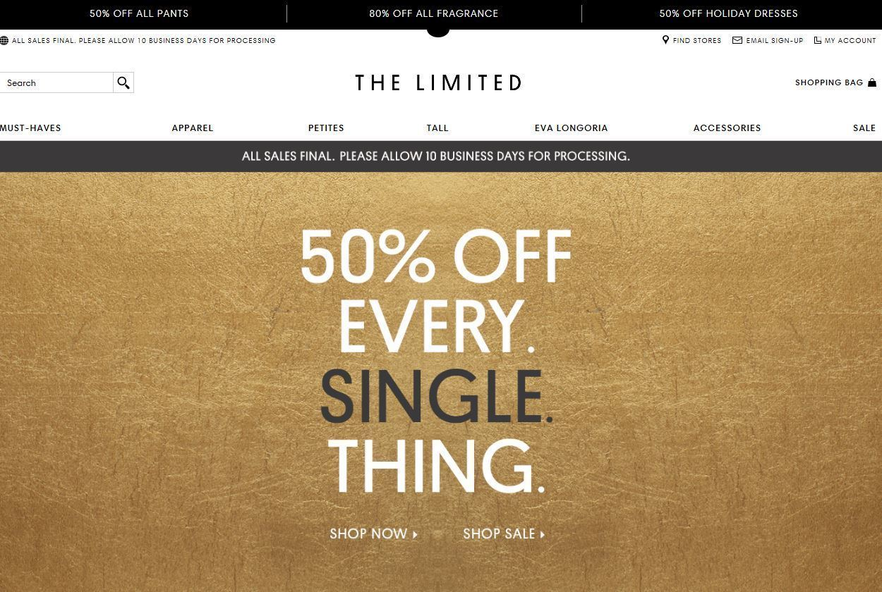 Retailer The Limited is set to close its South Florida stores on Jan. 7, employees say