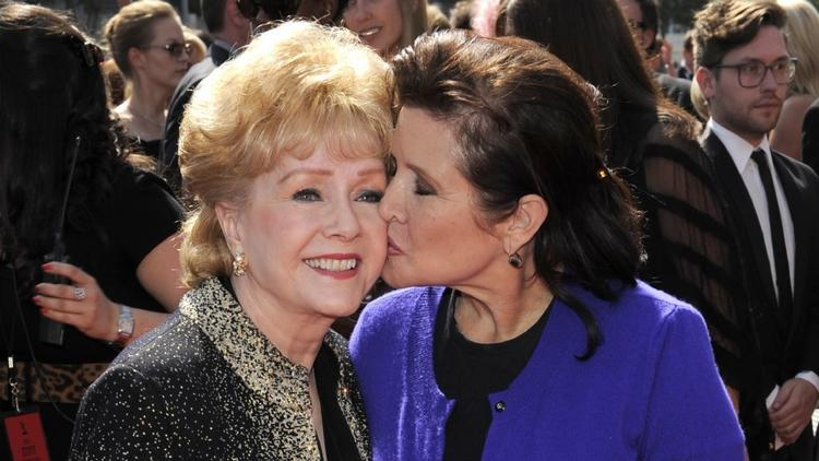 Debbie Reynolds and her daughter Carrie Fisher