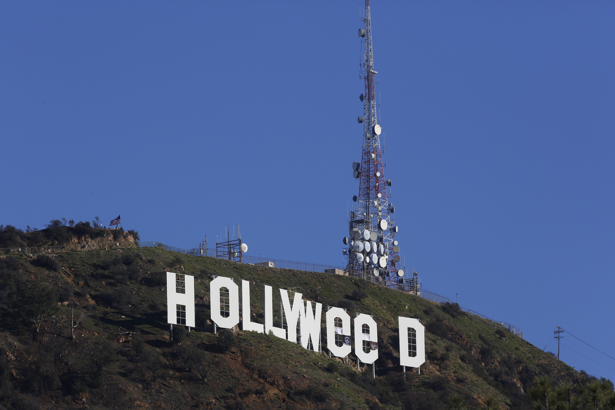 Hollywood sign could get extra security after 'Hollyweed' prank - Chicago  Tribune