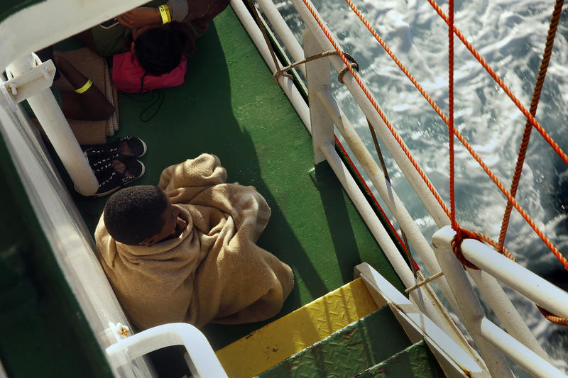 More than 100 of the rescued migrants were unaccompanied minors, most of them young men. One of them, a 15-year-old Eritrean, who called himself M.Y. and spoke English, kept to himself wrapped in a blanket while on the rescue ship.
