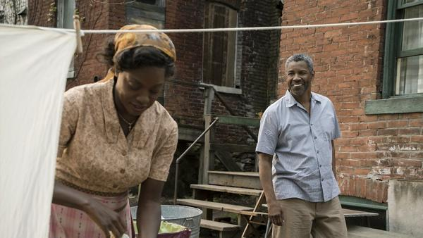 "Denzel Washington and Viola Davis in a scene from ""Fences,"" directed and co-produced by Washington. (David Lee / Paramount Pictures)"