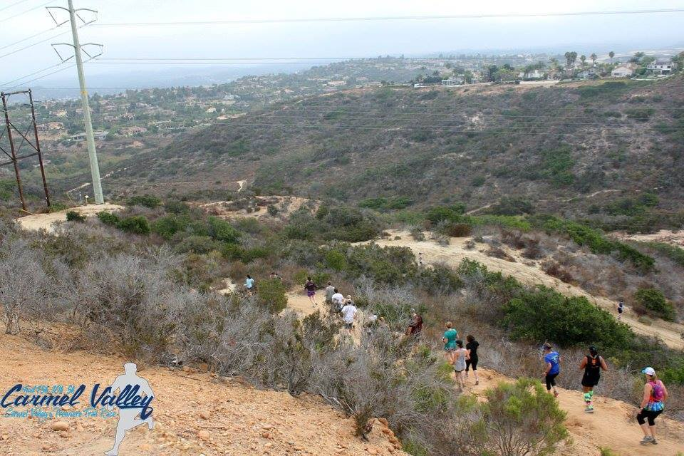 Runners race through Gonzales Canyon in the 2016 Carmel Valley Trail Race.