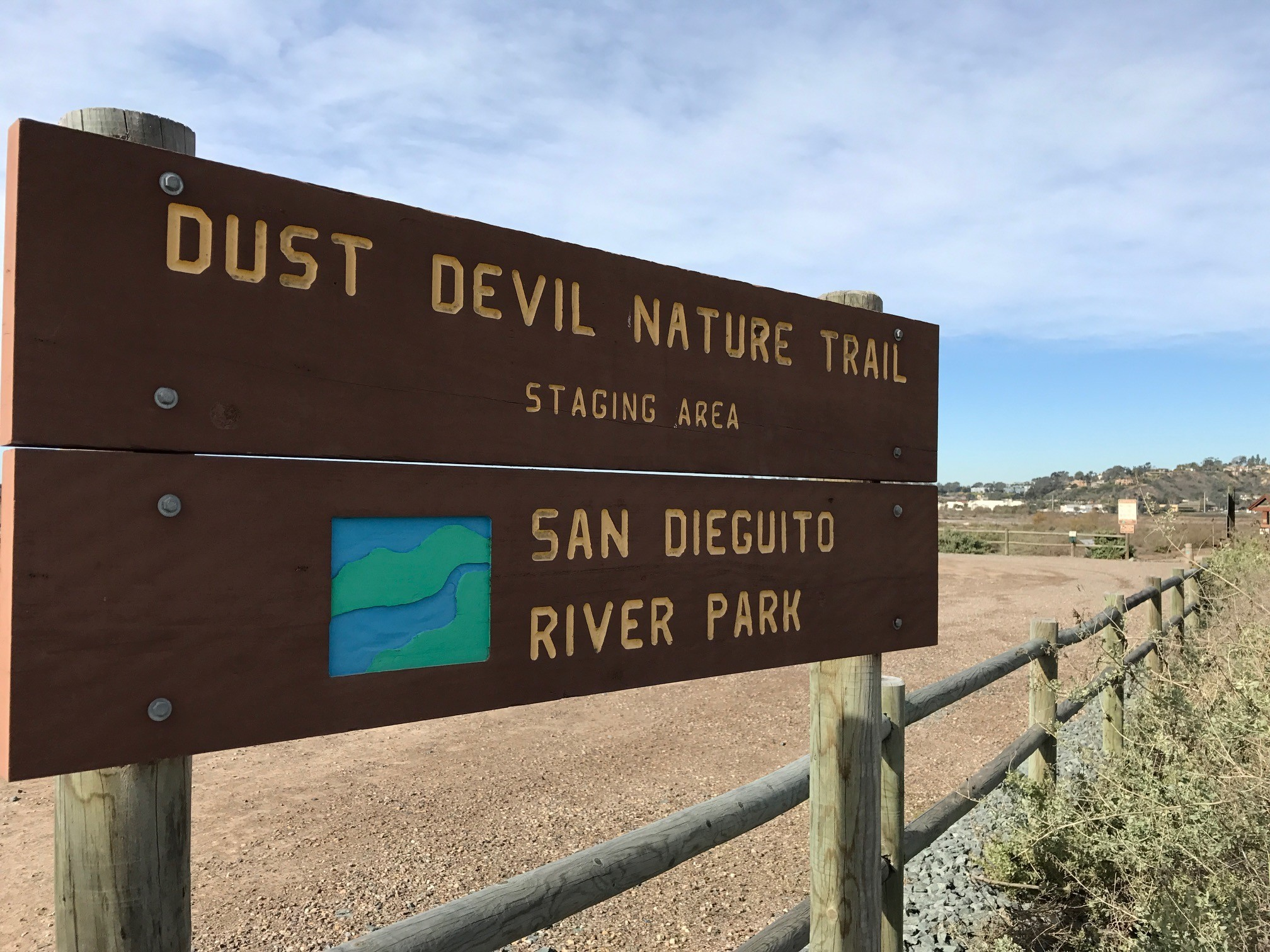 The Dust Devil trailhead on El Camino Real.