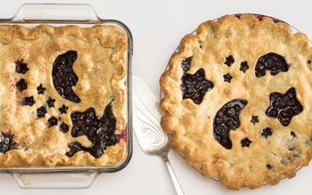 Blueberry night sky pie