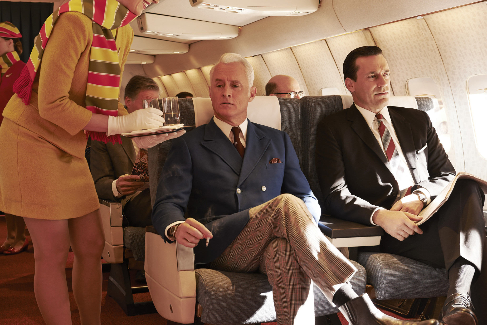 "Nostalgia TV: ""Mad Men's"" philandering Roger Sterling (John Slattery), left, and Don Draper (Jon Hamm). (Frank Ockenfels 3 / AMC)"