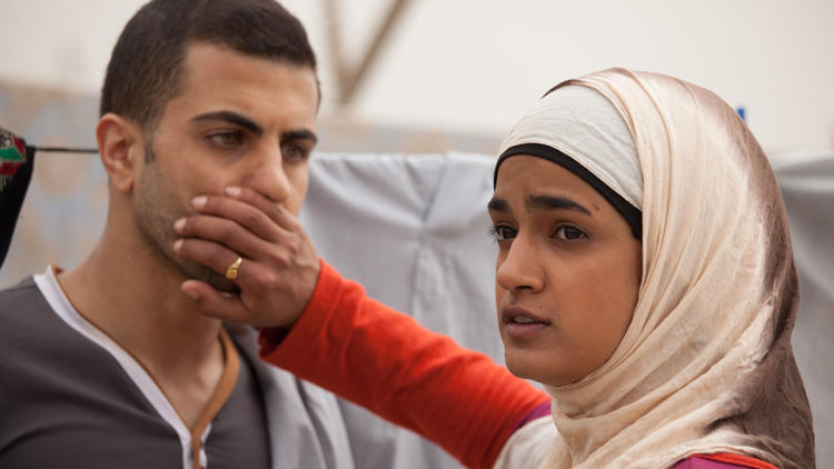 """Lamis Ammar as Layla and Jalal Masarwa as Anwar in """"Sand Storm."""""""