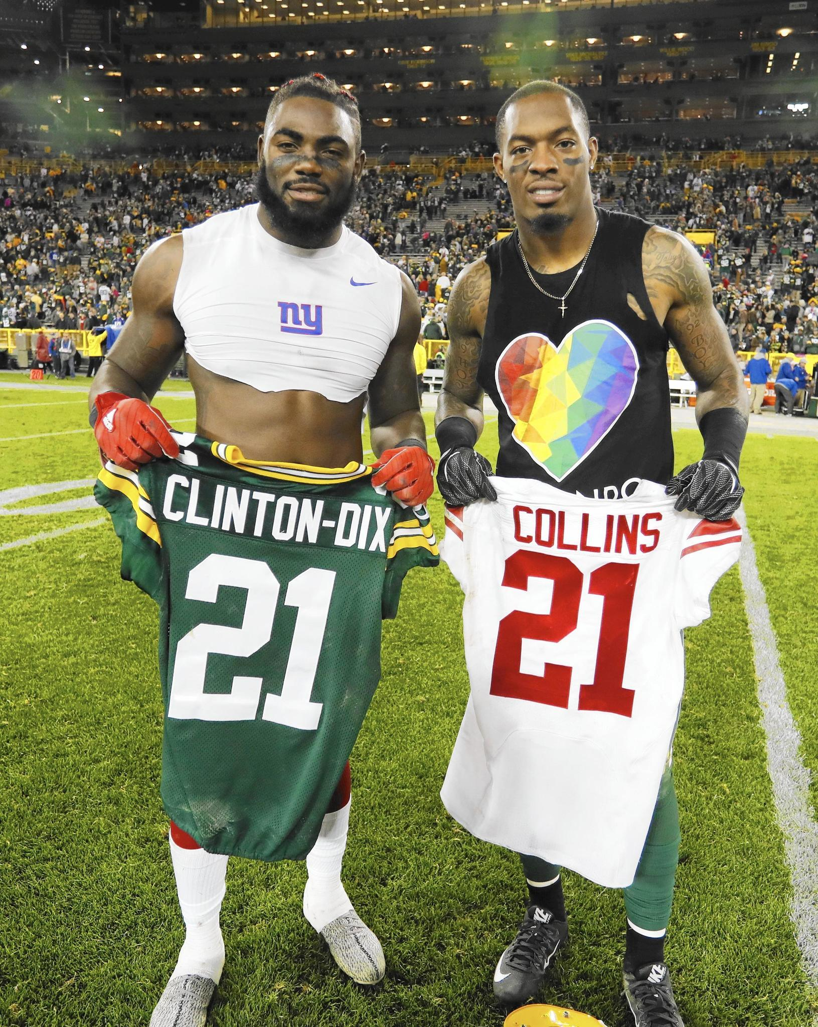 Roll Tide Giants Collins and Packers Clinton Dix shine