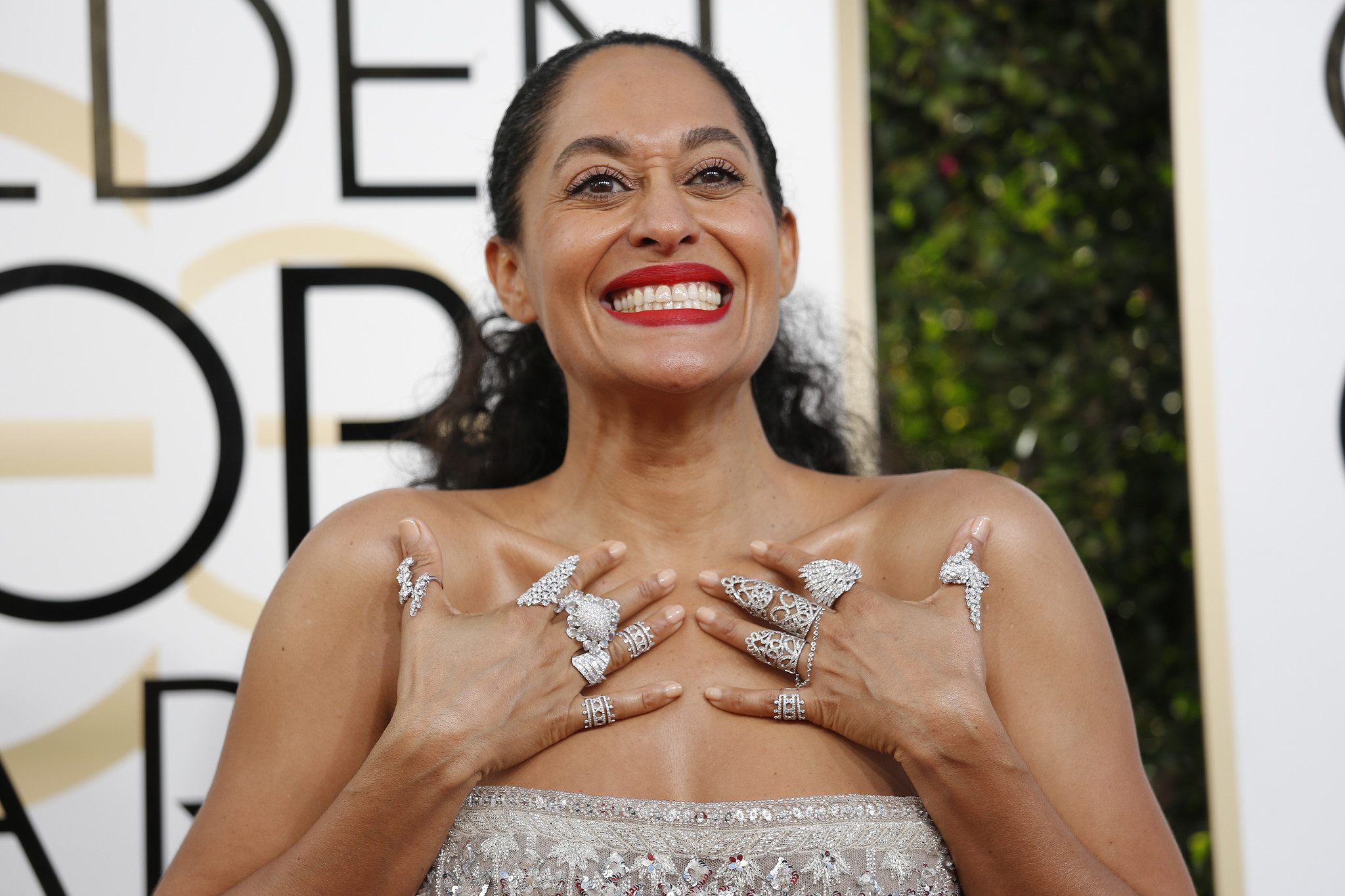 Tracee Ellis Ross arriving at the 74th Annual Golden Globe Awards show at the Beverly Hilton Hotel on January 8, 2017. (Jay L. Clendenin / Los Angeles Times)