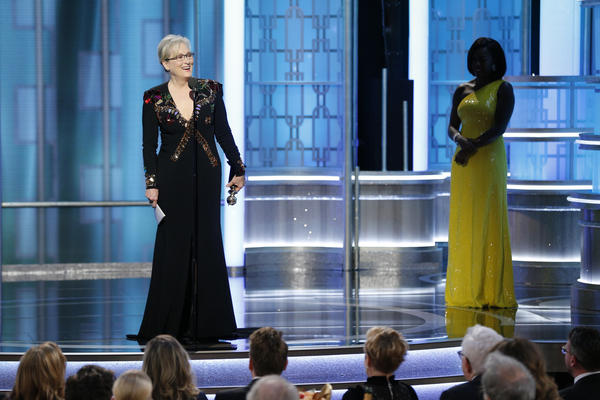 Meryl Streep, left, and Viola Davis (Paul Drinkwater / NBC)