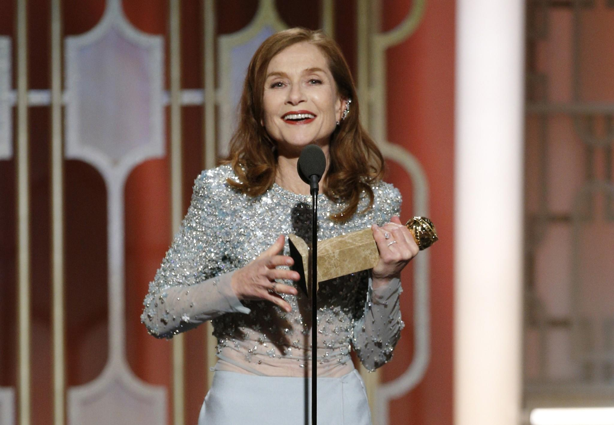 Image result for huppert GOLDEN GLOBES
