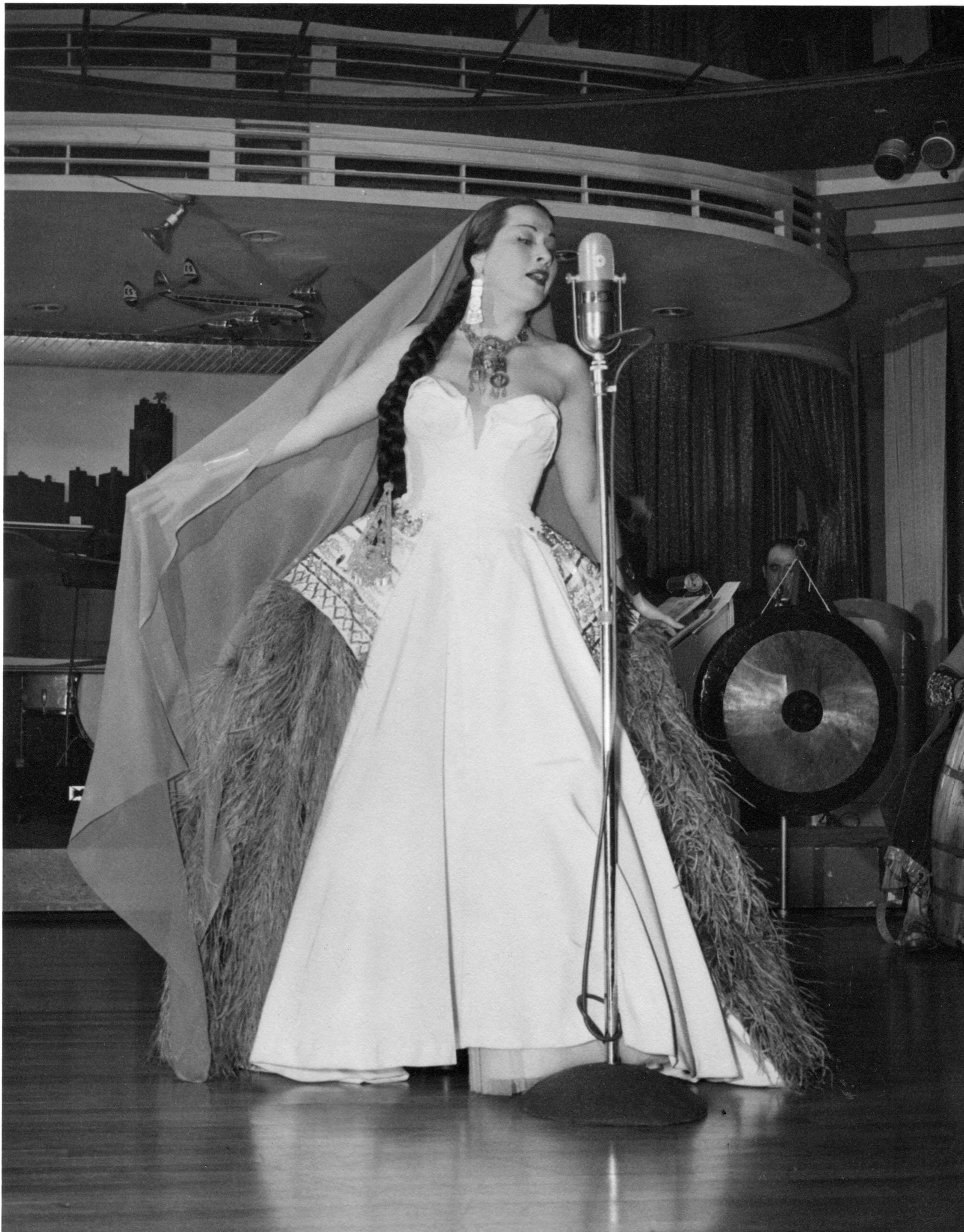 Sumac performing in 1952 — an image from her personal archive.