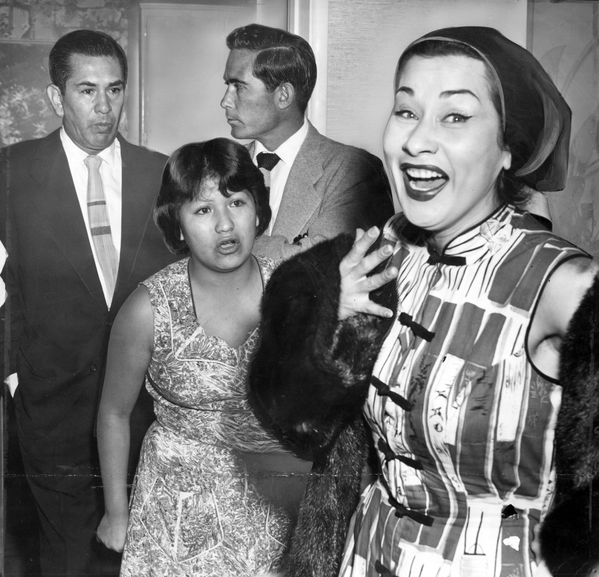 Sumac's personal travails often made headlines: Such as the family spat captured by a Times photographer in the 1950s.
