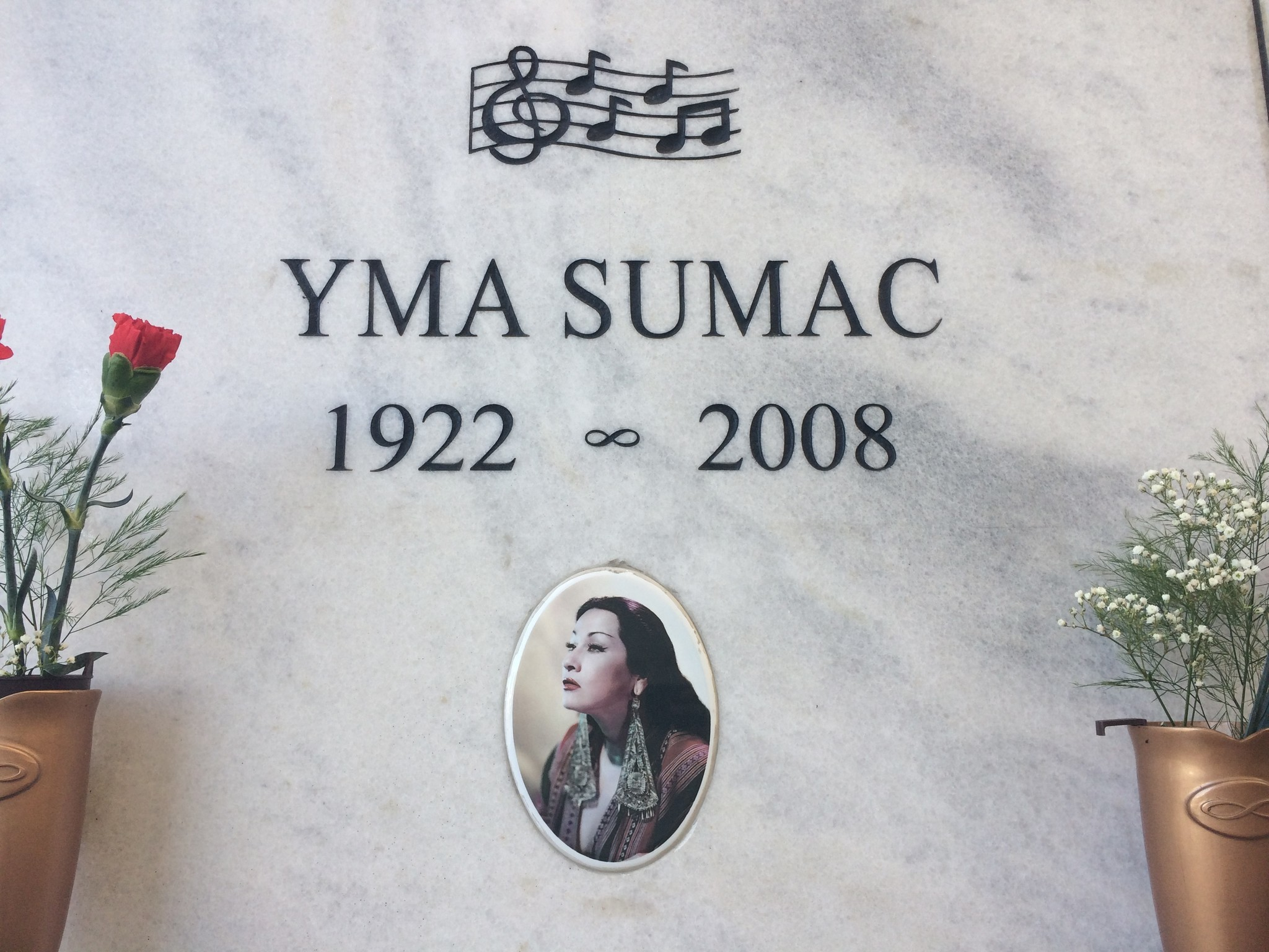 Yma Sumac's tomb at Hollywood Forever Cemetery.