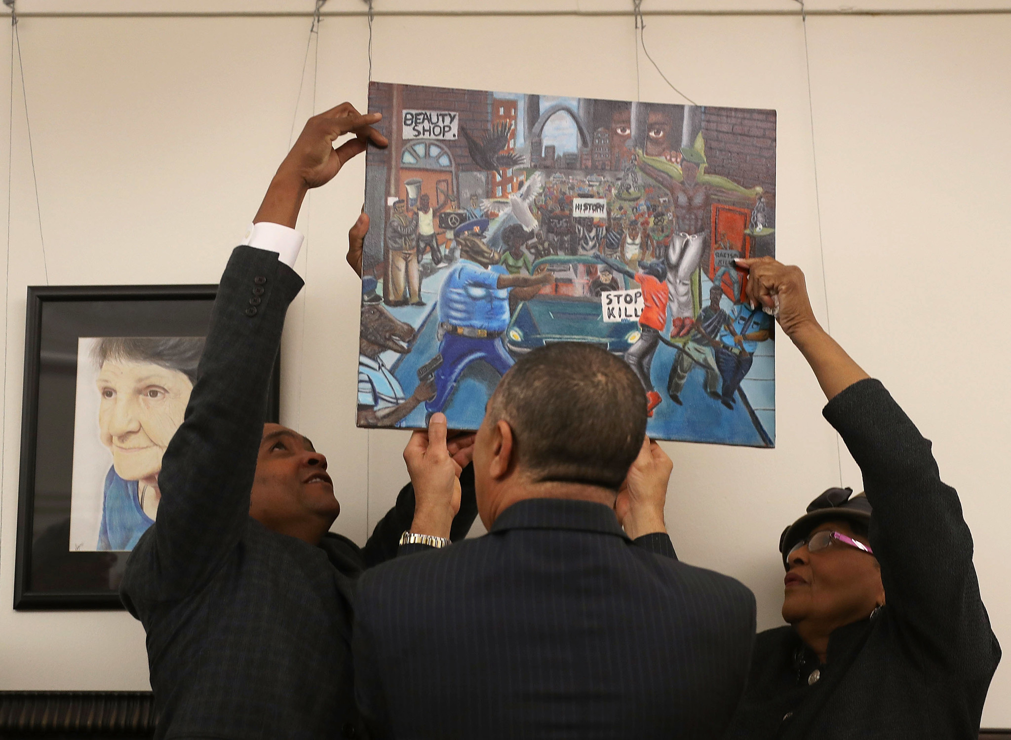 D.C. painting rehung and removed again — this time not by Rep.Hunter