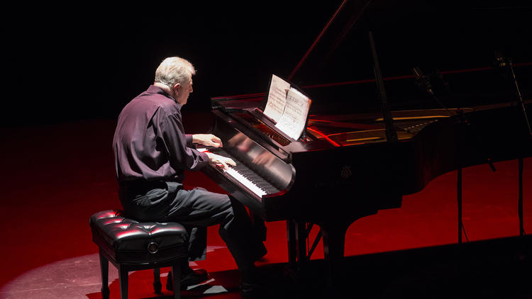 Mark Robson in his Piano Spheres recital at Redcat on Tuesday night.